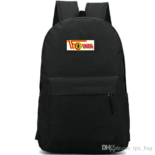 066a47e69637b Union Berlin Backpack 1 FC Daypack Football Club Schoolbag Soccer Team  Rucksack Sport School Bag Outdoor Day Pack Black Leather Backpack Backpacks  For ...
