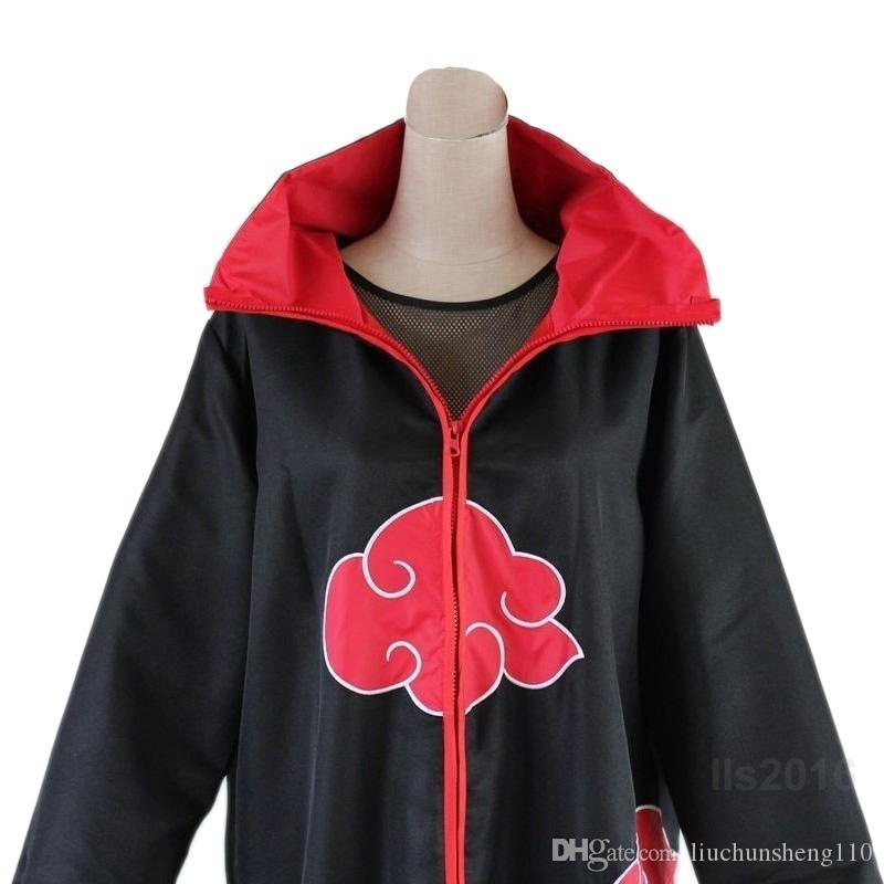 Vente chaude Anime Naruto Akatsuki Cloak Cosplay Costume Costume Halloween Noël Cape Cape Unisexe