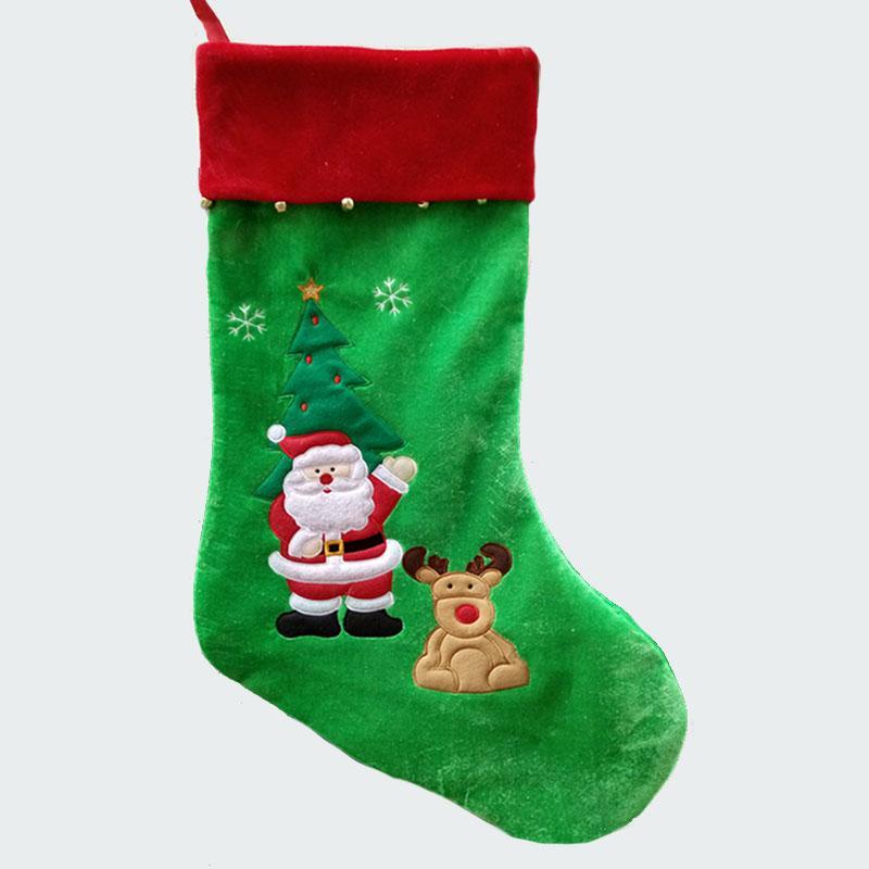 77cm303 length large christmas stockings with snowman santa claus reindeer pattern pleuche xmas gift bags santa claus bags decor christmas decor christmas - Large Christmas Stocking