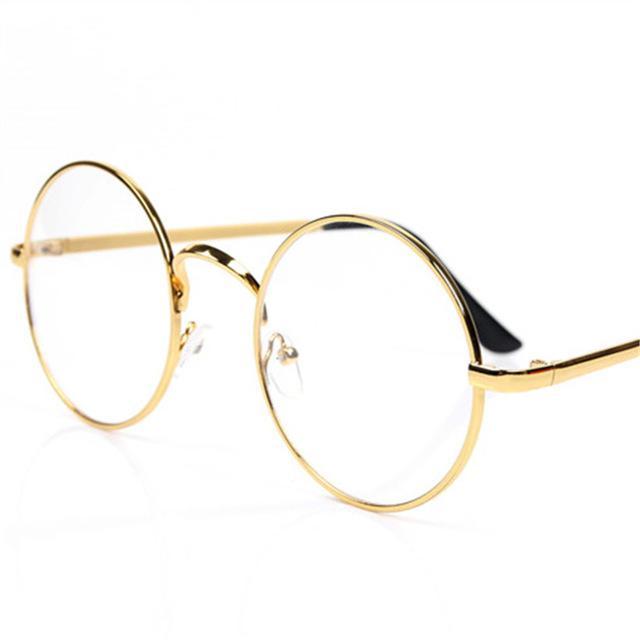 2ebb28c37a Compre Marcos Redondos Retros De Los Vidrios Hombres De Las Mujeres Anteojos  Transparentes De La Vendimia Vidrios Ópticos Del Metal Unisex A $4.06 Del  ...