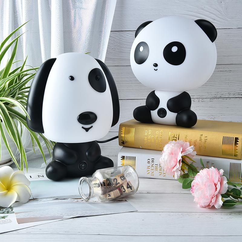 Lampe Panda Bande Lit Forme Enfants Nuit Lampes Couchage Chambre Lumière Cartoon Dessinée Bébé De Chien Table nXkON8wP0