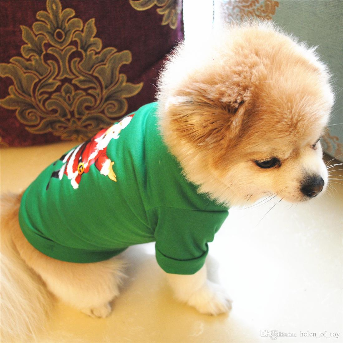 New Arrival Hot Sale Good Quality Christmas Green Santa Claus Pet