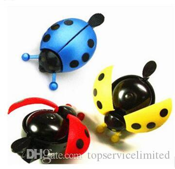 Lovely Kid Beetle Ladybug Ring bicycle Bell For Cycling Bicycle Bike Ride Horn Alarm bike trumpet horn WHolesale