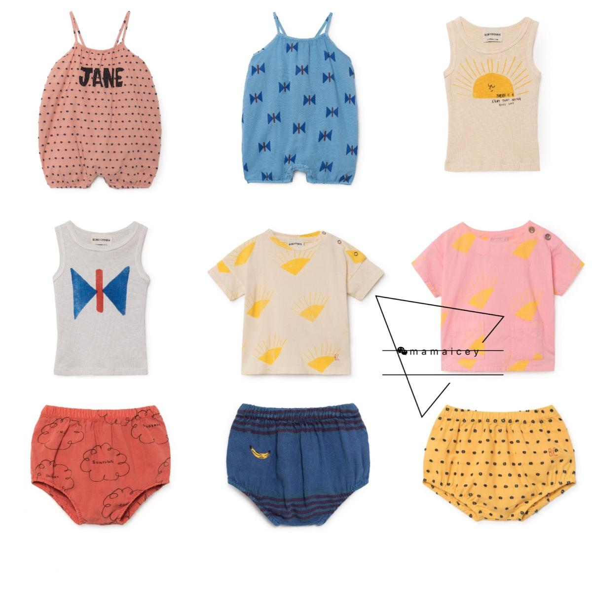 5cfb38cde60 Baby Clothes Sets 2018 Bobo Choses Summer Boys T Shirt Shorts Tees Tops  Girls Rompers Tank Vest Cotton Overall Kids Clothing Y1892605 UK 2019 From  ...