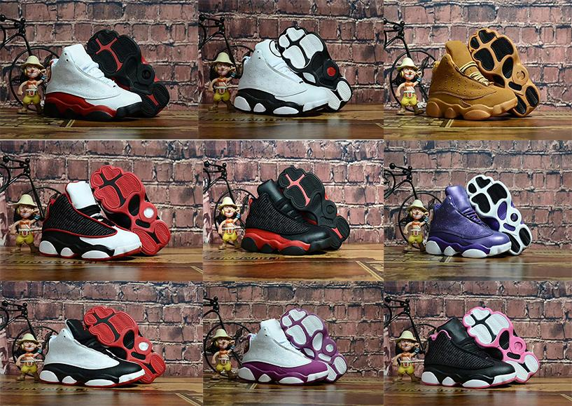 separation shoes 89d83 ff054 New toddler 13 13s basketball shoes Chicago He got game Bred altitude DMP  boys girls sneakers children baby sports shoes size 11C-3Y