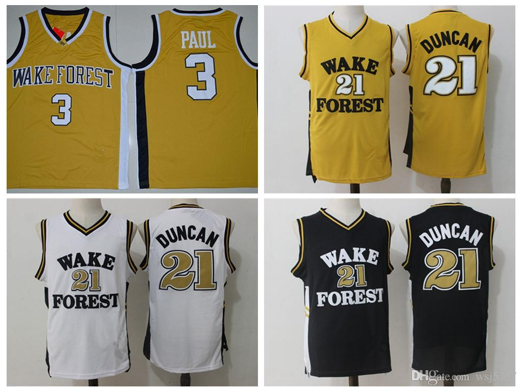 53bd39e22fe ... where to buy best mens wake forest demon deacons 3 chris paul jersey 21  tim duncan