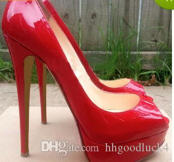 ed69a49f917 Designer Brand Black Matte Leather Round Toes Red Bottom High Heels ...