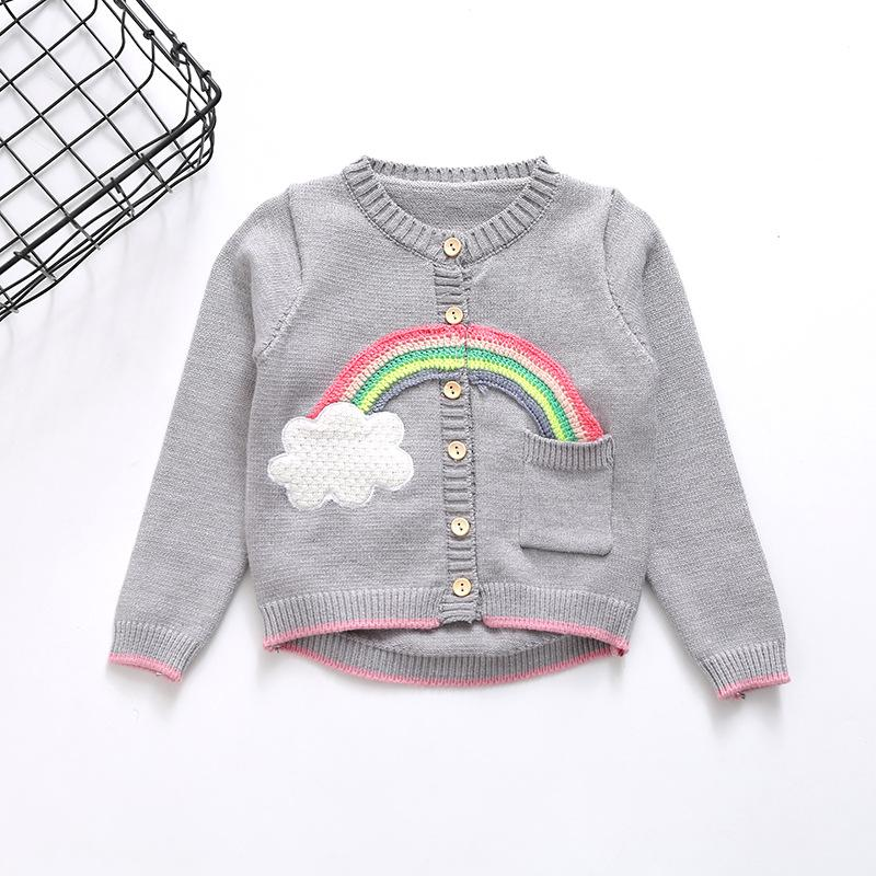fd9bd4da1 2018 New Design Baby Girls Knitting Sweater Autumn Spring Kids ...