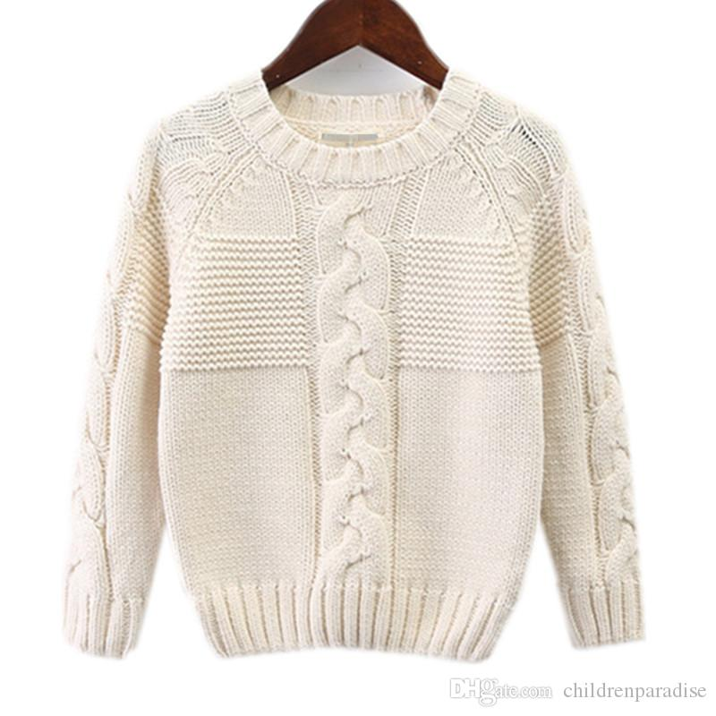 e9916861c985 Kids Boys Cable Knit Solid Color Fall Winter Casual Knitted Pullover  Sweater Children Boy Fashion Beige Blue Rib Hem Sweaters Sweater Design  Child Sweater ...