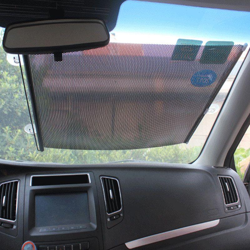 40 60 CM Universal Car Sunshade Roller Blind Mesh Summer Insulation  Telescopic Sun Block Sunscreen PVC Protect Car Collapsible Windshield Sun  Shade Cool Car ... e61995d6cf4