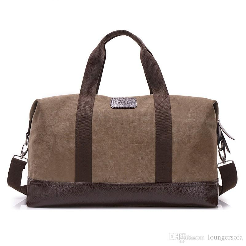 Travelling Bag Luggage Leisure Canvas Single Shoulder Portable Big Men Simple Retro Fashion Mix Colour Hot Sale 42yk V