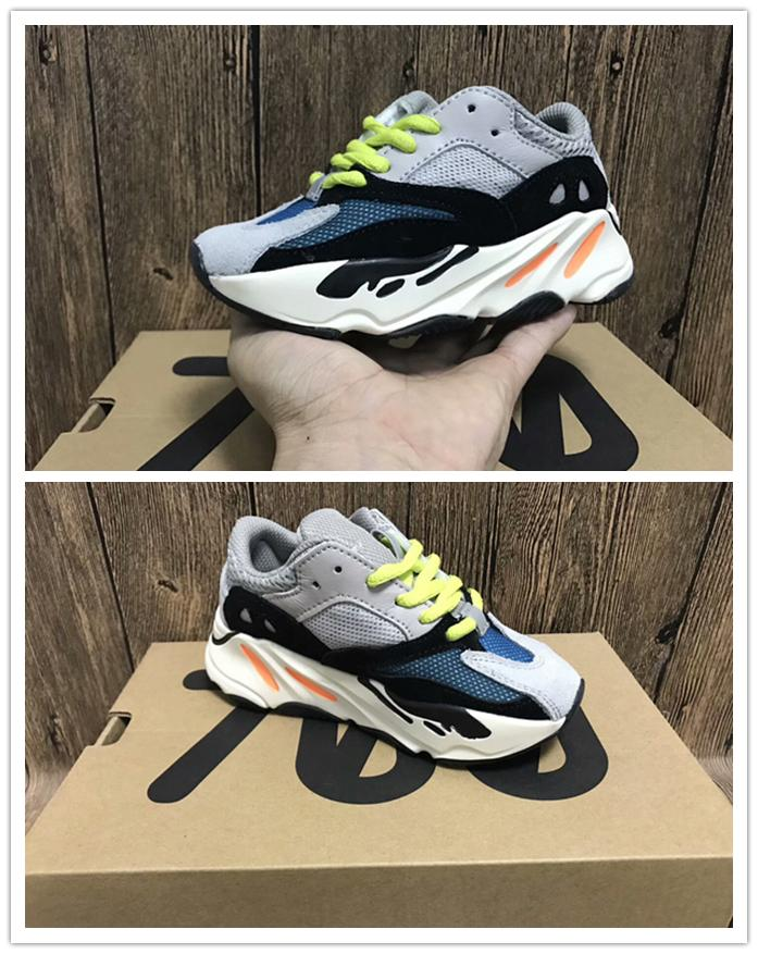 new arrivals 5b429 a3989 kids sneakers 350 V2 Kanye West Wave Runner 700 Running Shoes Children 700  Sports toddler shoes Casual