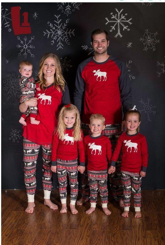 Acquista Manica Lunga Alci Fata Famiglia Natale Pigiama Set Bambini Adulti Pigiami  Pigiami Da Notte Figlia Madre Abiti Abiti Da Famiglia Vestiti Coordinati ... 1b9be47a35c