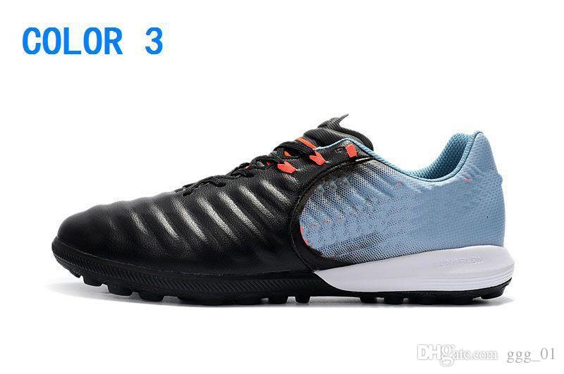New Cheap Moda Preto Chuteiras De Futebol Vermelho Tiempo Legend VII TF Sapatos de Futebol Indoor Low Tiempo Ligera TF Turf Botas de Futebol Dos Homens Sapatos