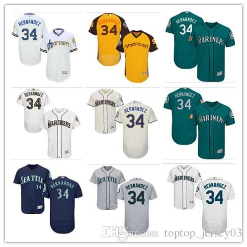 f37ab325de5 2018 Can Custom Seattle Mariners  34 Felix Hernandez  WOMEN YOUTH ...