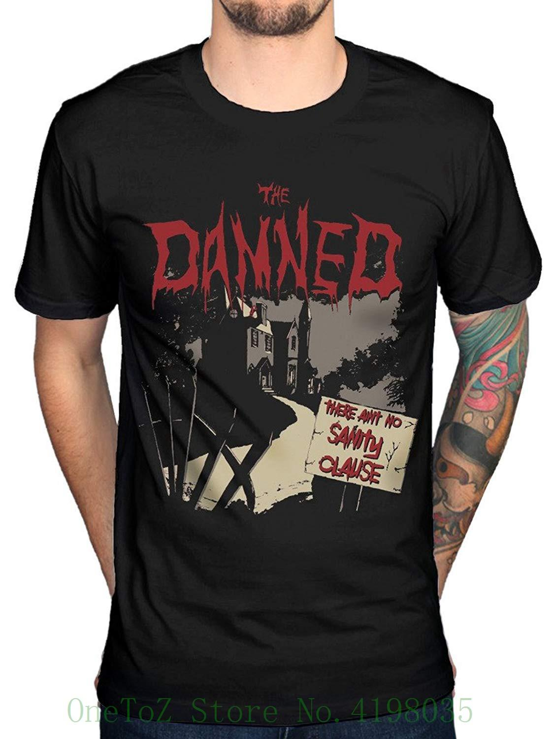 b79d491f Official The Damned Aint No Sanity Clause T Shirt Grave Disorder 100%  Cotton T Shirts For Man Great Tees Latest Designer T Shirts From  Onetozstore, ...