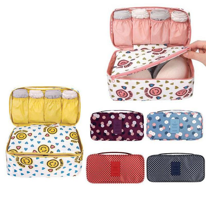 Home Storage Summer Swimming Bag Swimsuit Organizer Underwear Bra Packing For Travel Makeup Organizer Cosmetic Cloth Storage Box