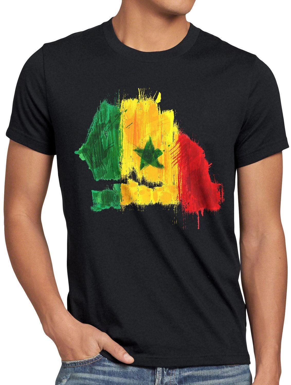 innovative design c180c 62bce Senegal T-Shirt Herren Fußball Sport WM EM Fahne National-Flagge Fan-Artikel