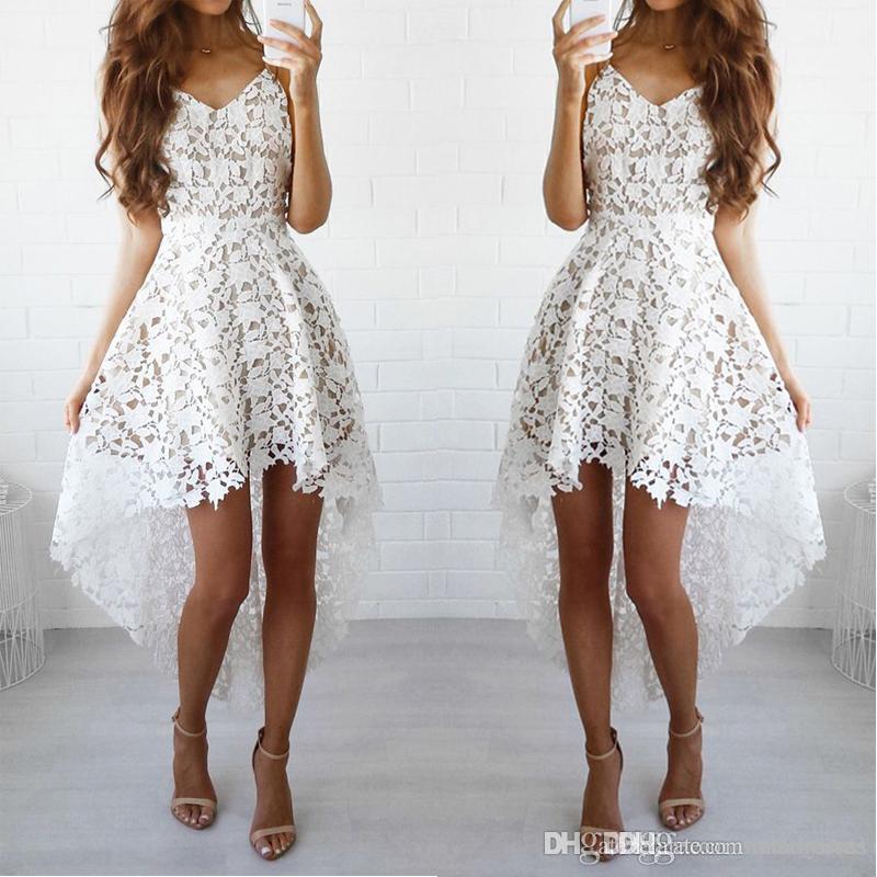 2483a01ebdd9 Vestidos blancos de fiesta de fiesta con vestidos de fiesta cortos de  encaje cortos para vestidos de fiesta de fiesta por encargo