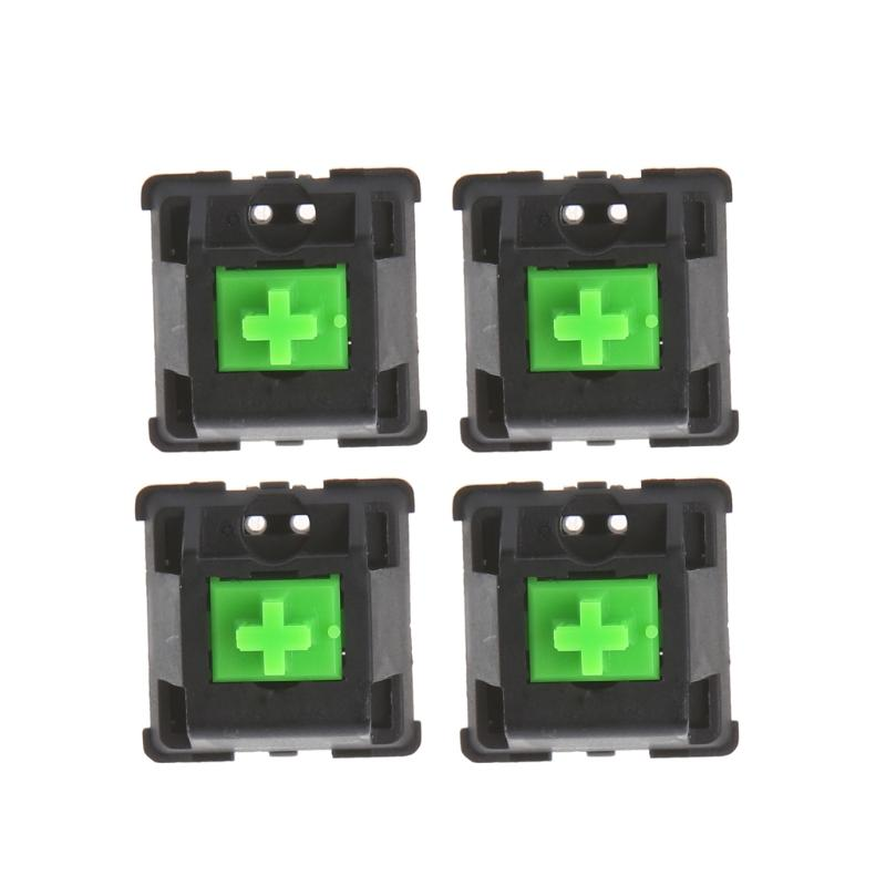 4Pcs Mechanical Switch Green RGB switches for Razer blackwidow Chroma  Gaming Mechanical Keyboard