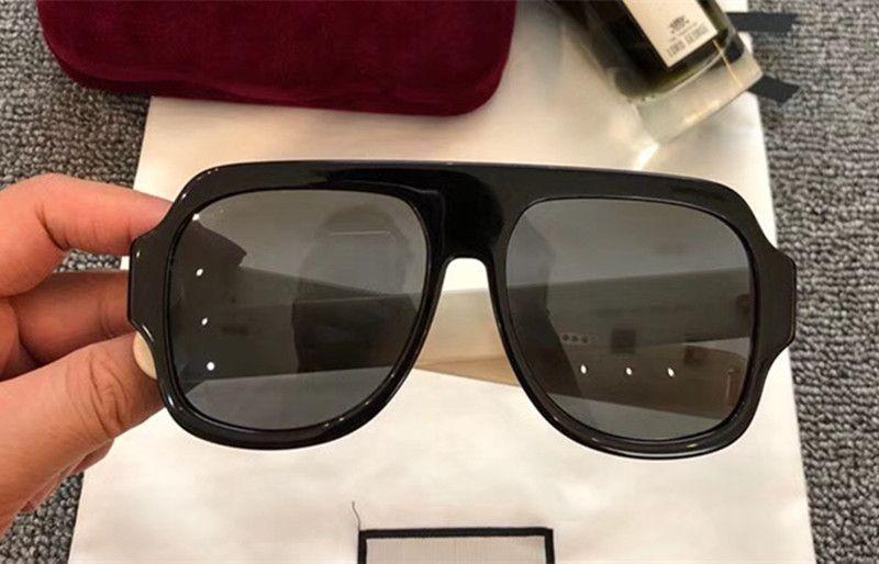 702f4d0121 2018 Woman Sunglasses Thick Stripes Temple Men Square Shield Style ...