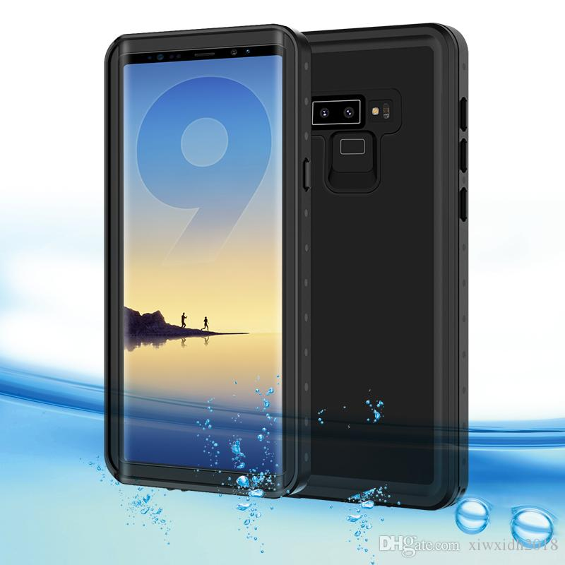new arrivals fceb6 c42a0 For Samsung Galaxy Note 9 Waterproof Case Shock Dirt Snow Proof Protection  With Touch ID For Note9 Case Cover IP68 Waterproof Case Skin