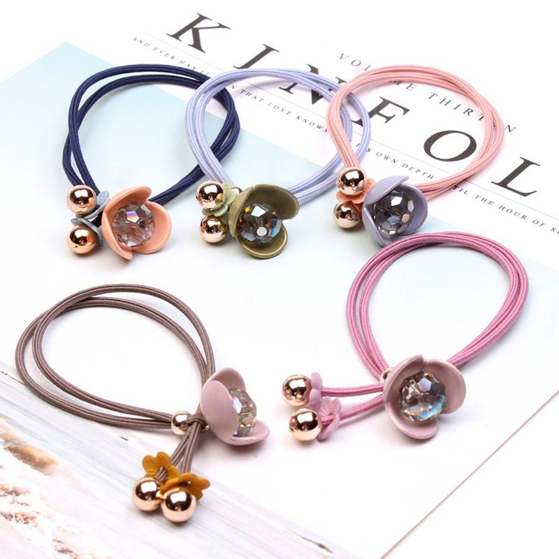New Korean Style Women s Fashion Hair Accessories Crystal Flower ... b863696be1