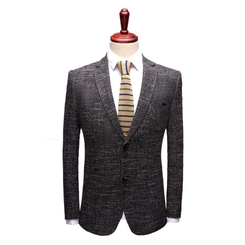 Compre A Estrenar 2019 Casual Blazer Para Hombre Slim Fit Traje Formal De  Negocios De Los Hombres Traje De La Etapa Ropa Para Chaquetas Del Partido  ... 38bac25c24d