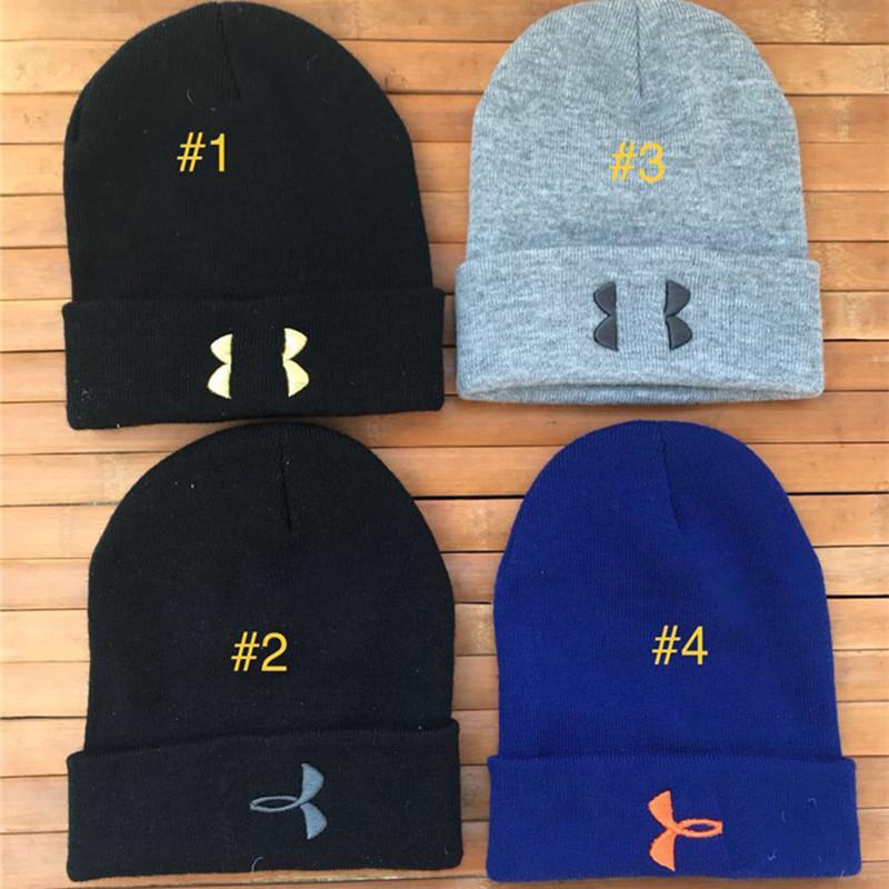 b4f56d8b1b0 Brand UA Beanies Men Women Under Winter Hats Knit Designer Crochet Skull  Cap Amor Unisex Warm Knitting Beanie Hip Hop Sports Skiing Caps Online with  ...