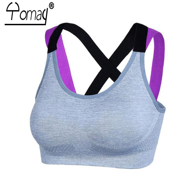 3c83f385d9 2019 Yomay Sexy Backless Women Sports Bra Yoga Running Push Up Padded  Fitness Top Adjustable Straps Athletic Vest Sport Underwear From Pothos