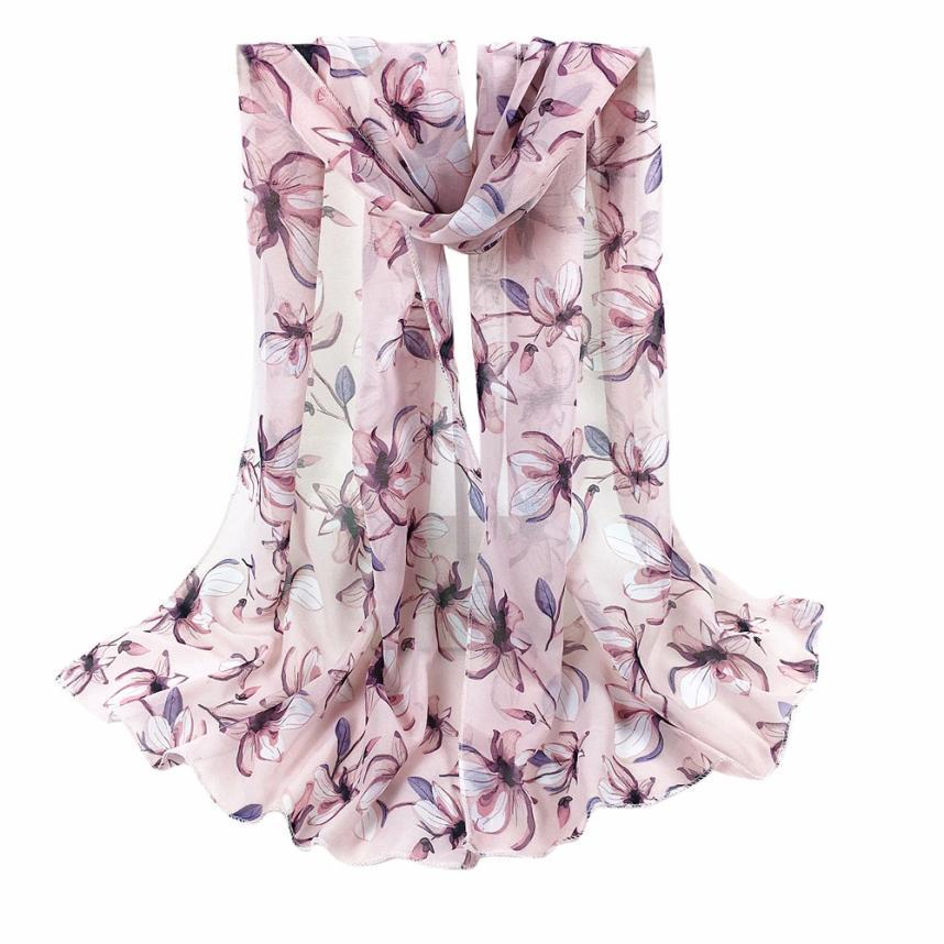 Fabuloso Elástico Mujeres Bufandas Impreso Largo Suave Bufanda Envoltura Chal Robó Pashmina Bufandas Poncho Cuello pañuelo Transpirable chales