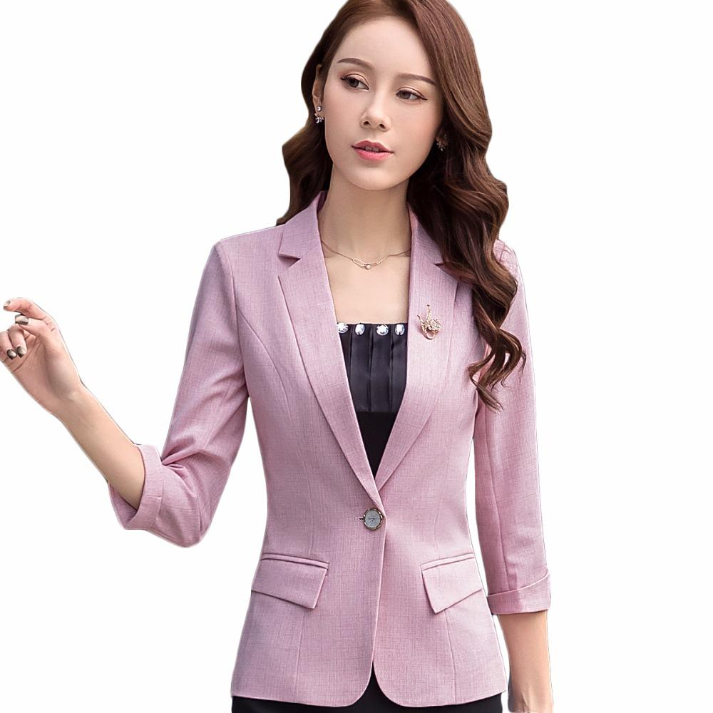 7a46d73072f5 2019 2018 New Pink Blazer And Jacket Office Lady Style Business Formal Work  Wear Three Quarter Coat From Aimea, $41.52 | DHgate.Com