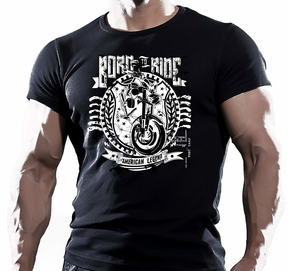 c00a9bec4 Born To Ride Cotton T Shirt Top Clothing Biker Motorbike Superbike Biker'S  Gift Print T Shirt Men Summer Top Tee Plus Size Rude Tshirts Offensive Tee  Shirts ...
