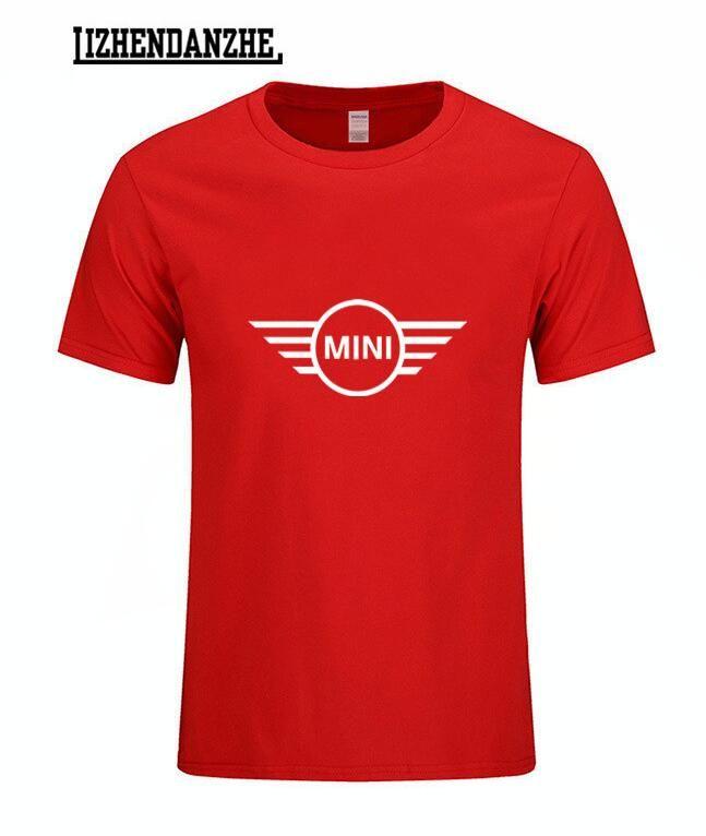 2018 New Mini Cooper S Logo T Shirt Print High Quality Car Tshirt