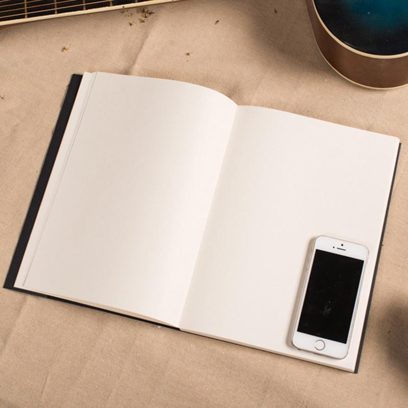 Livro preto Esboço Livro Sketchbook Art Marcador Esboço Livro Para Pintura Desenho Retro Clssci Material de Escritório Da Escola Papelaria