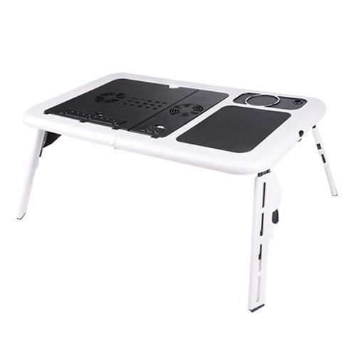 foldable portable laptop desk table stand bed tray dual fans laptop