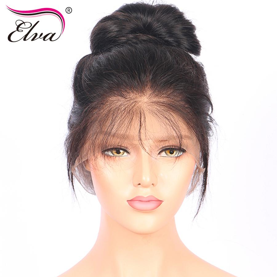 1750a1bbf Elva Hair 180% Density 360 Lace Frontal Wig Pre Plucked With Baby ...