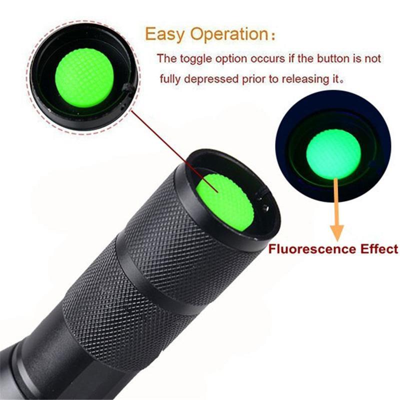 365nM 395nM 4 W Poder LED de Alumínio Zoom lâmpada UV lanterna Luz negra toque Voilet Roxo luz UV lâmpada