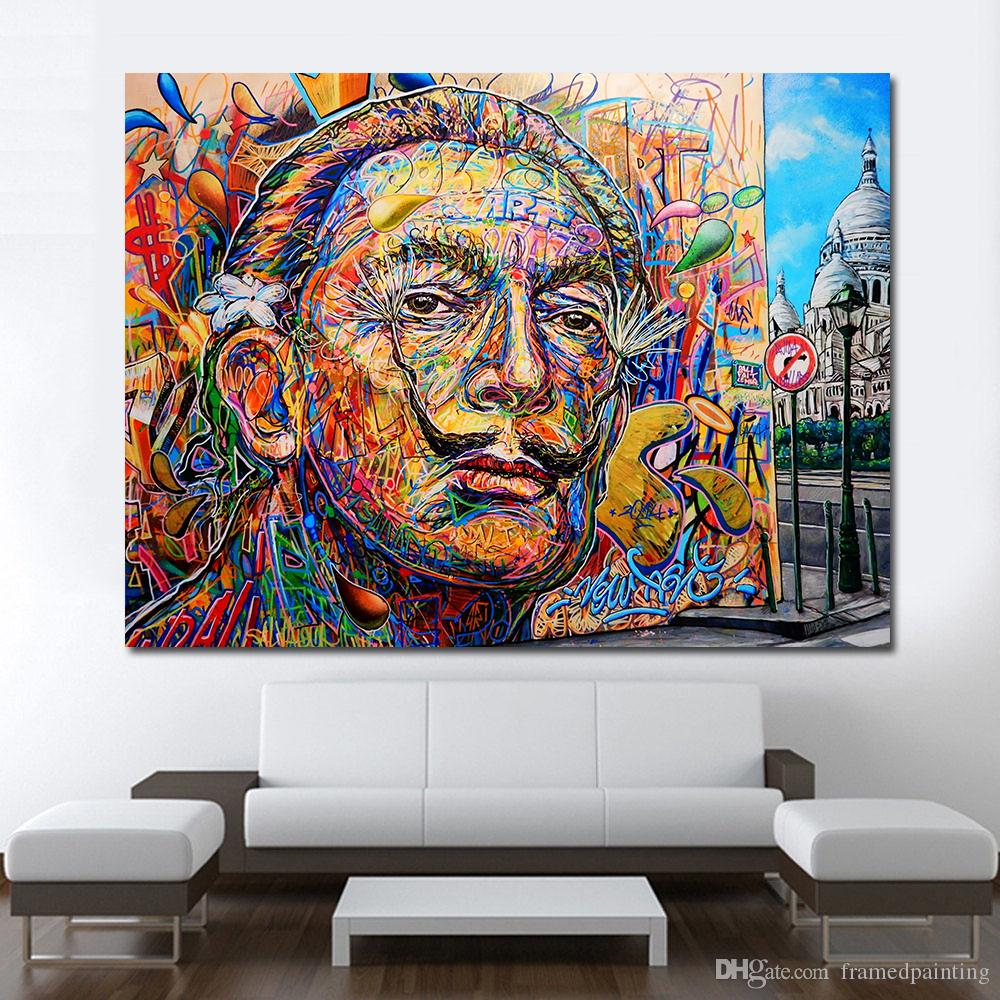 1 Pz Moderna Immagini Decorative Ritratto Immagine Street Art Home Decor Canvas Print No Frame Canvas
