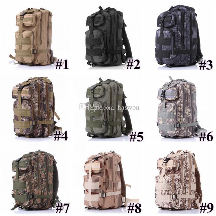 30L Hiking Camping Bag Military Tactical Trekking Rucksack Backpack Camouflage Molle Rucksacks Attack Backpacks Fast Ship