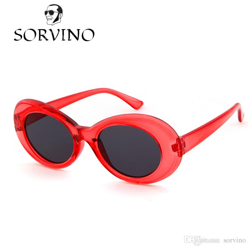 f9967e4878 SORVINO 2018 Kurt Cobain Clout Goggles Men Women Vintage Retro Neff Small Oval  Sunglasses NIRVANA Male 90s White Alien Sun Glasses 421 Heart Shaped ...