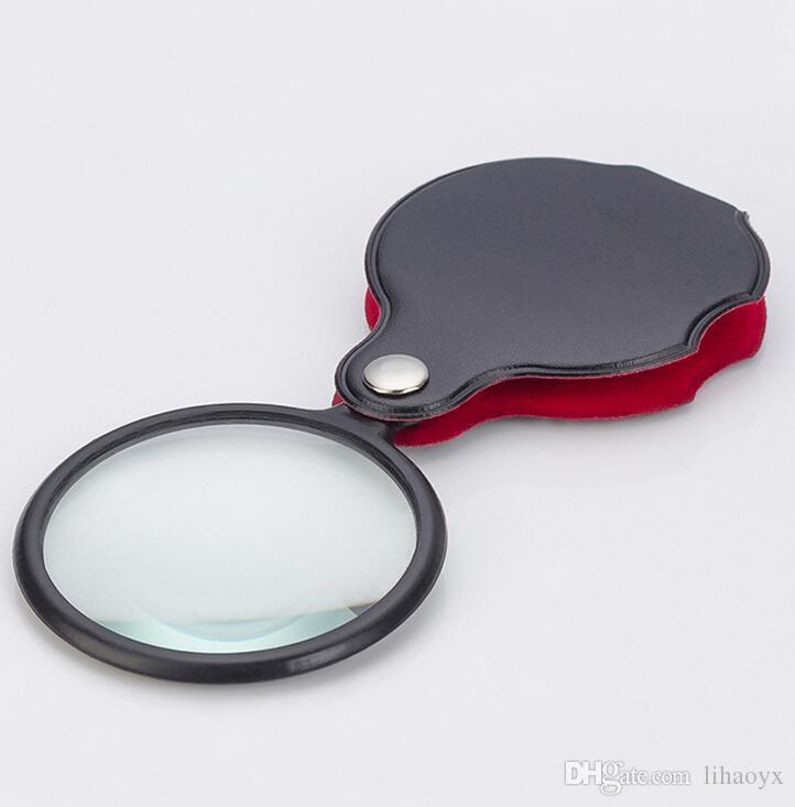 مصغرة جيب 8x 50 ملليمتر للطي مجوهرات المكبر العين العدسة عدسة زجاج عدسة طوي حلقة مجوهرات loupes b891