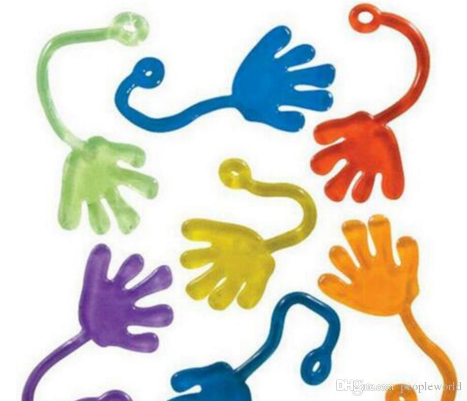 300 adet iyi oynayan oyuncaklar Çocuklar Parti Kaynağı Mini Yapışkan Mini Jelly Stick Sopa Tokat Yanadır Eller Oyuncak