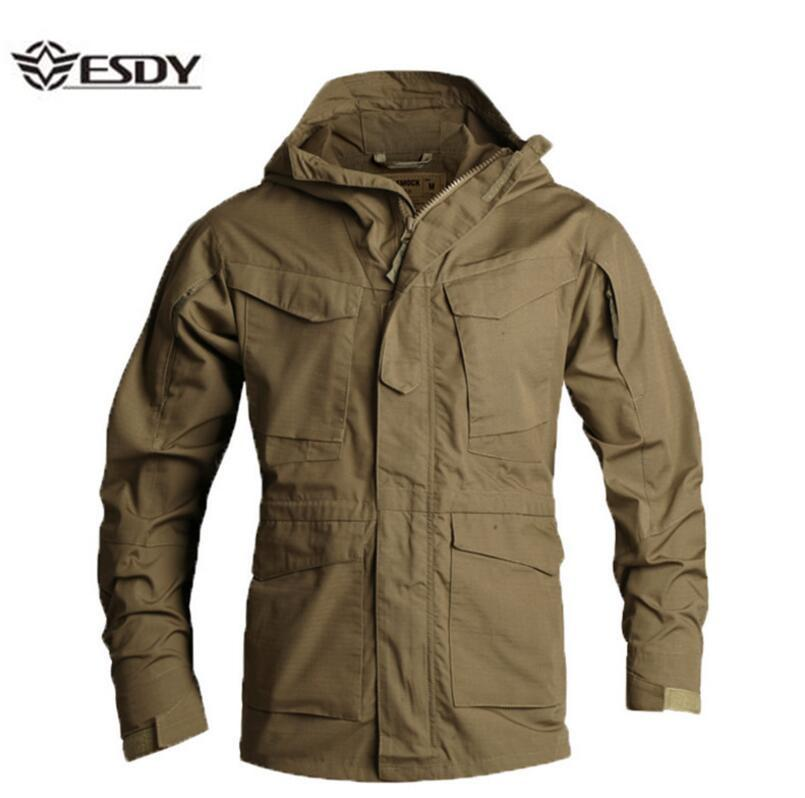 8d47ea1fc2c 2019 ESDYMen S Jacket US Army Climbing Tactical Clothing UK M65 Fall Winter  Flight Pilot Hooded Coat Field Outdoor Hiking Windbreaker From Panthers