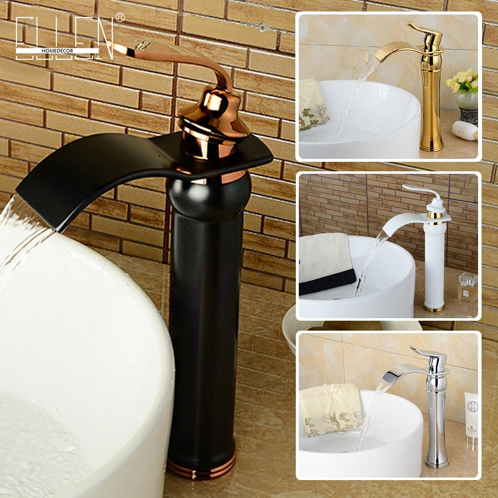 2018 Multiple Choices Bathroom Faucet Waterfall Wash Basin Faucets ...