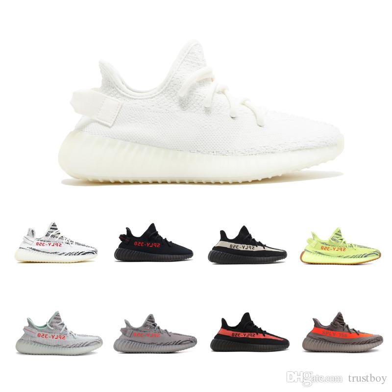 2018 NEW Sply 350 V2 Peanut Butter Semi Frozen Yellow Blue Tint Beluga 2.0 Zebra Cream White Bred Shoes Come With Box Wholesale Drop Ship get to buy cheap online discount collections supply for sale oKndh