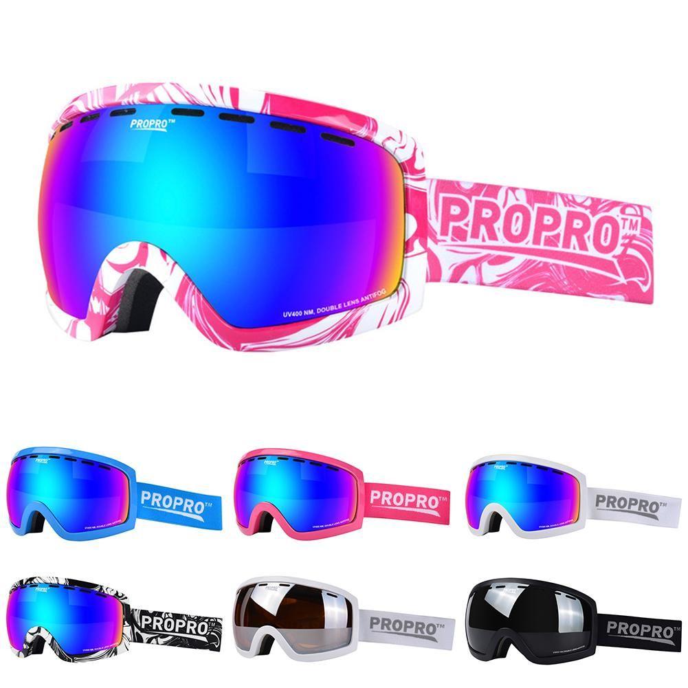 f44b94dd58 Acheter PROPRO Pour Enfants Enfants Ski Ski Lunettes De Ski Double Couches  Coupe Vent Anti Brouillard Ski Lunettes De Snowboard Lunettes Pour Lentille  ...