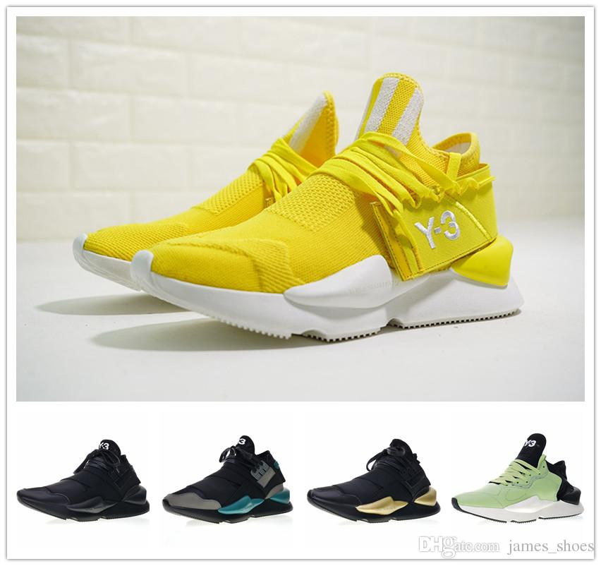 4a20a65ca 2018 New Y 3 Qasa X Kaiwa Chunky Sneakers Fashion Dad Shoes Black Gold  Casual Shoes AAA+ Quality Men Women Sports Sneakers Jogging 36 44 Ladies  Shoes ...