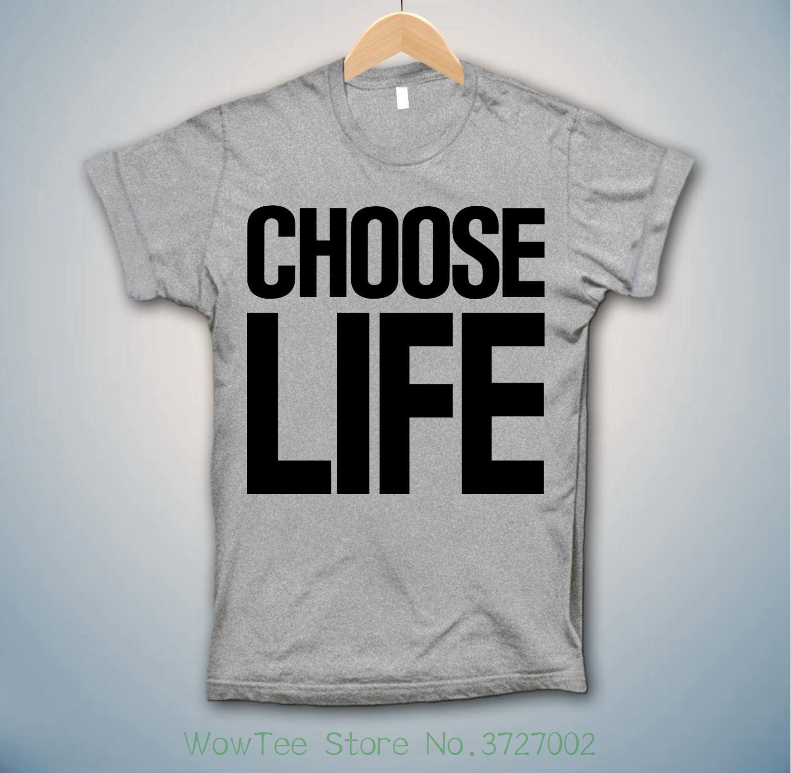 bd6a0d65 Choose Life T Shirt Wham Inspired George Michael Fancy Dress 80s  Trainspotting Tee Shirts Men O Neck Tees Rude Tshirts Offensive Tee Shirts  From Wowteestore ...