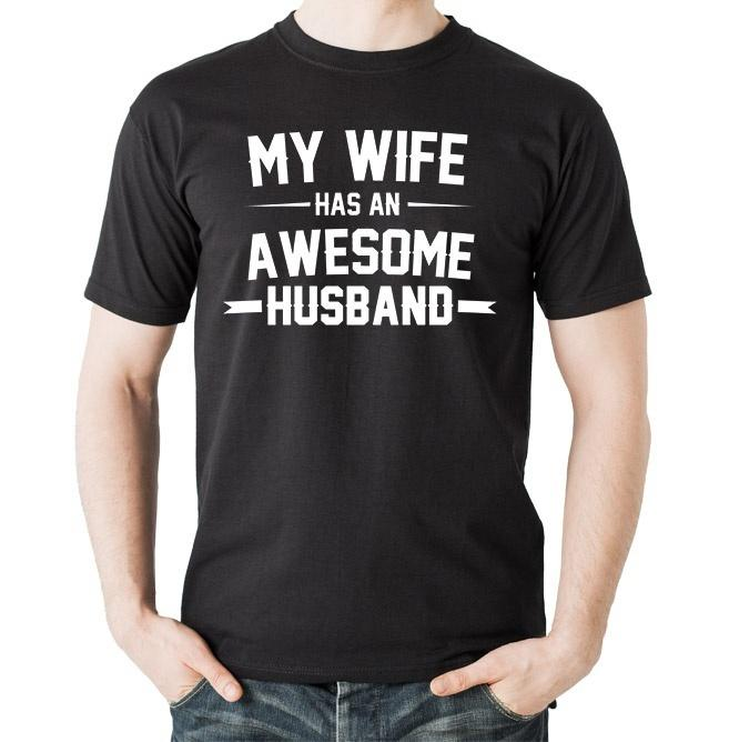 Husband T Shirt Gift For Birthday Anniversary Cool Short Sleeve Men Original Shirts With Sayings From